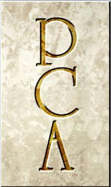 logo on stone